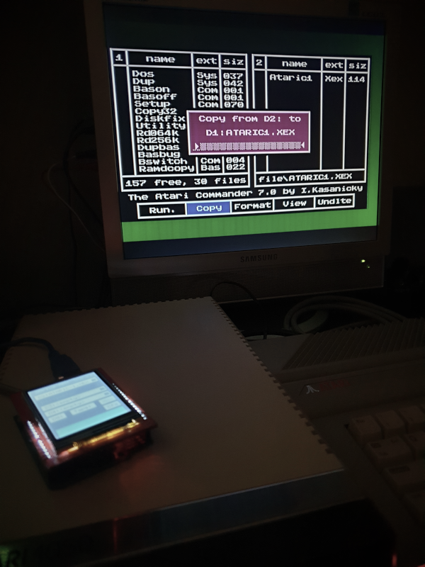 Atari Commander 7.0 - copying files between real disk drive and ART image