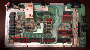 Atari 800XL motherboard